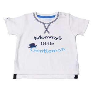 "FH-108 - Baby Boy T-Shirt - ""Mommy's Little Gentlemen"" Print - Featherhead Baby"