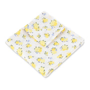 "Muslin Swaddle Blanket 44"" x 44"" - Yellow Flowers - Featherhead Baby"