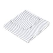 "Muslin Swaddle Blanket 44"" x 44"" - Grey Stripe - Featherhead Baby"