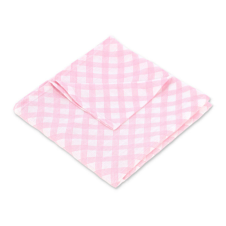 "Muslin Swaddle Blanket 44"" x 44"" - Pink Boxes - Featherhead Baby"