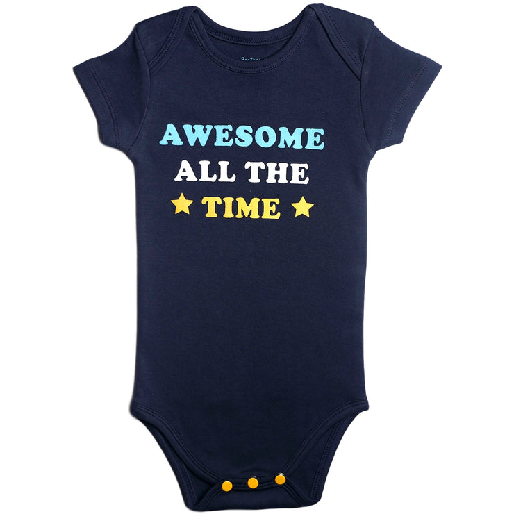 FB-2005 Navy Awesome All The Time Bodysuit - Featherhead Baby