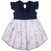 FS-3 Navy Paris Flutter Sleeve Dress - Featherhead Baby