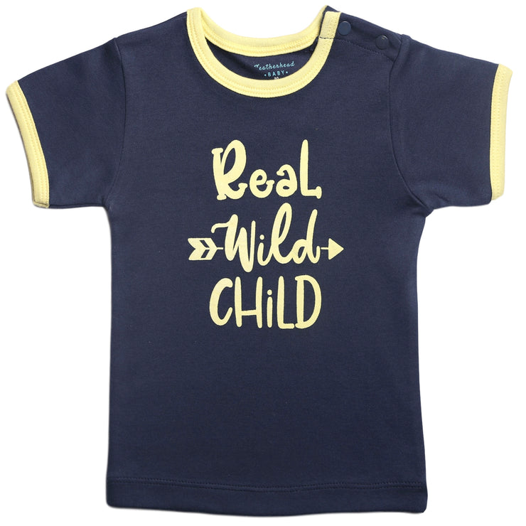 FB-3005 Baby Boy T-Shirt - Real Wild Child - Featherhead Baby