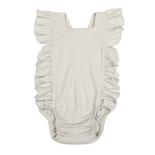 Load image into Gallery viewer, FH-5001 - Baby Girl Bodysuit/Romper - Cross-Over Frill Grey Solid - Featherhead Baby