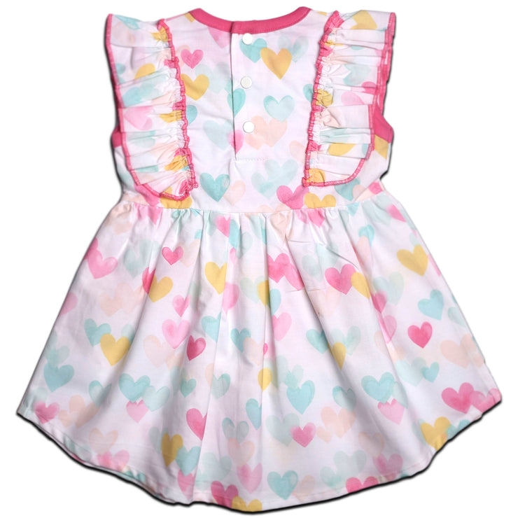 FS-92 Pink Hearts Sleeveless Dress - Featherhead Baby