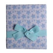 "FS-76 Accessories for Baby Boy Swaddle Blanket 44"" x 44"" - Blue Stars - Featherhead Baby"