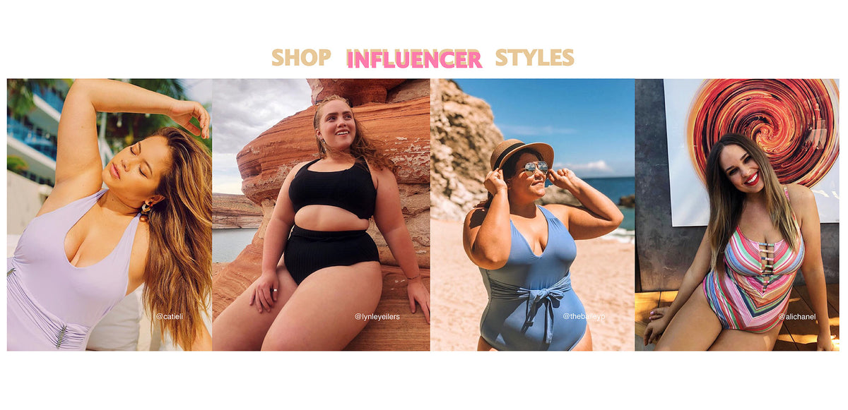Influencer Plus Size Swim Collection