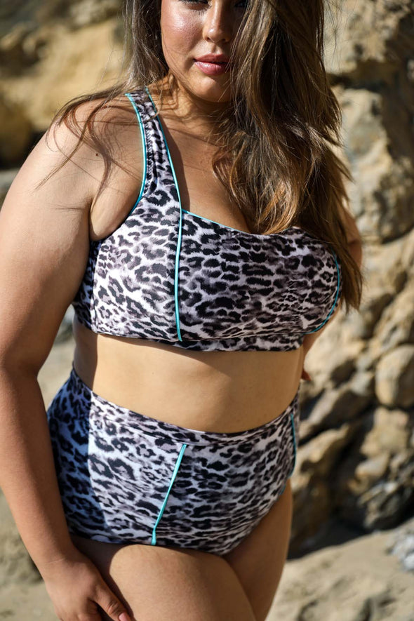 Animal Kingdom Plus Size Bralette Bikini Top