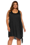 Breezy Basics Plus Size Beach Dress - Black