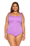 Color Code Plus Size One Piece Swimsuit - Lily