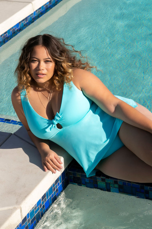 Color Code Plus Size Tankini Top