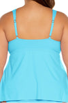 Color Code Plus Size Tankini Top - Sea