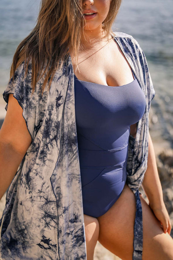 Color Code Plus Size One Piece Swimsuit