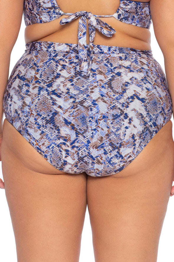 Animal Kingdom Plus Size High Waist Bikini Bottom - Python