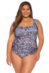 Animal Kingdom Plus Size One Piece Swimsuit - Leopard
