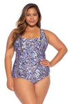 Animal Kingdom Plus Size One Piece Swimsuit - Python