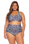 Animal Kingdom Plus Size High Waist Bikini Bottom - Leopard