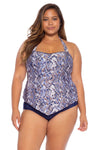 Animal Kingdom Plus Size Tankini Top - Python
