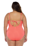 Color Code Plus Size Ruffle One Piece Swimsuit - BECCA ETC Swim