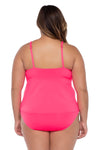 Color Code Plus Size High Neck Tankini - BECCA ETC Swim