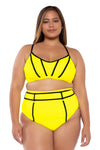 Scuba Plus Size High Waist Bikini Bottom - Catherine Li x BECCA ETC