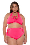 Slasher Plus Size High Waist Bikini Bottom - Catherine Li x BECCA ETC
