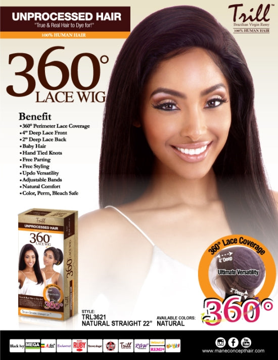 TRILL - TRL3621 NATURAL STRAIGHT 22