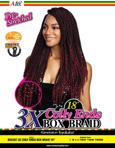 AFRI® - BOX307-3X COILY ENDS BOX  BRAIDS 18""
