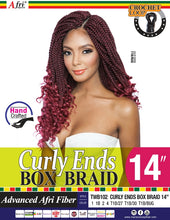 Load image into Gallery viewer, AFRI - TWB102 - CURLY ENDS BOX BRAID 14""