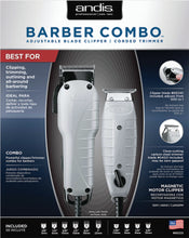 Load image into Gallery viewer, ANDIS® COMBO BARBER ENVY/T-OUTLINER GRAY