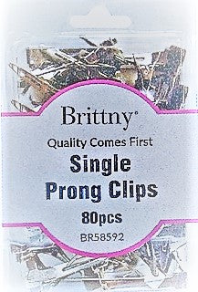 BRITTY® CLIP SINGLE PRONG 80PC