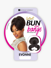 Load image into Gallery viewer, SENSATIONNEL® - INSTANT BUN W/ BANGS - EVONNE