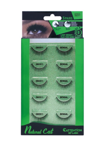 EBIN® NATURAL CATTENTION 3D LASHES - 5 PAIRS