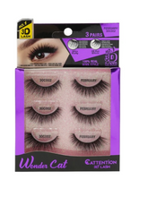 Load image into Gallery viewer, EBIN® WONDER CATTENTION 3D LASHES - 3 PAIRS