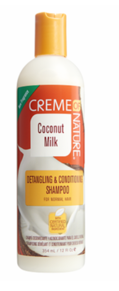 CRÈME OF NATURE® COCONUT MILK SHAMPOO (12OZ) [DETANGLING & CONDITIONING SHAMPOO