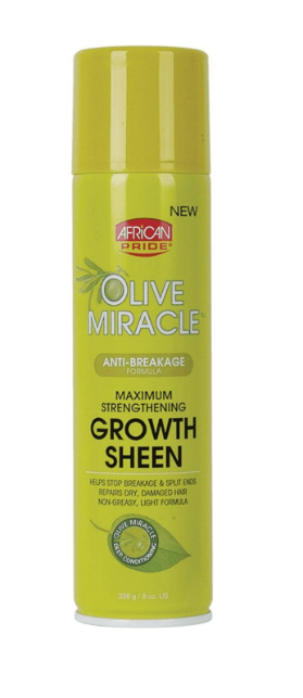 AFRICAN PRIDE® OLIVE MIR SHEEN SPRAY (8OZ)