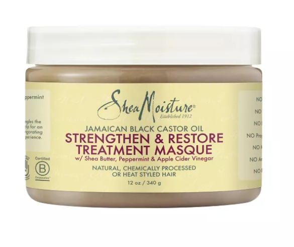 SHEA MOISTURE®JAMAICAN BLACK CASTOR OIL STRENGTHEN & RESTORE TREATMENT MASQUE (12OZ)