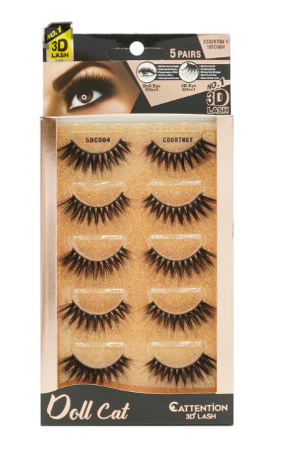 EBIN® DOLL CATTENTION 3D LASHES - 5 PAIRS