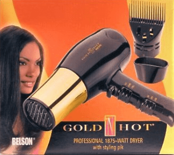 GOLD 'N HOT 1875 WATT HAIR DRYER GH8135