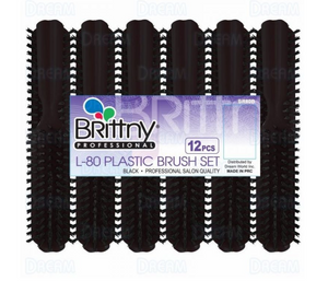 BRITTNY BRUSH PLASTIC L-80 BLACK