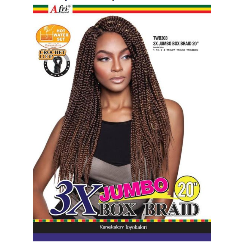 AFRI - TWB303 3X JUMBO BOX BRAID 20
