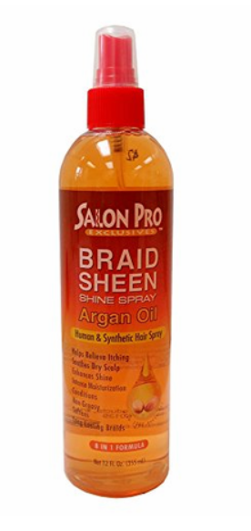 SALON PRO BRAID SHEEN SHINE SPRAY - ARGAN OIL (12OZ)