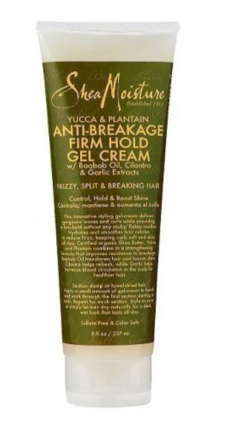 SHEA MOISTURE® - YUCCA & PLANTAIN ANTI-BREAKAGE FIRM HOLD GEL CREME