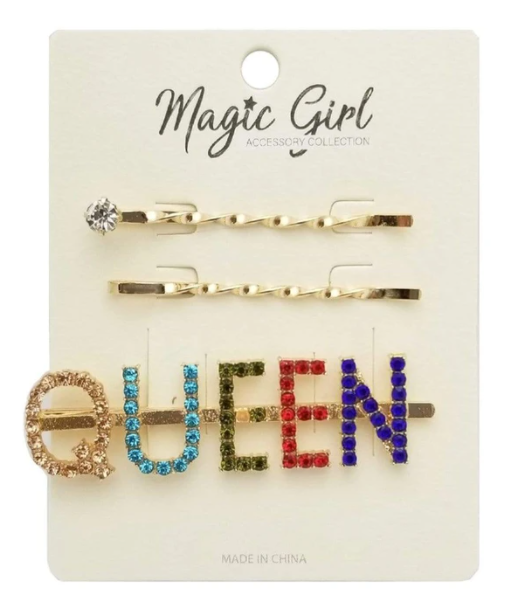 MAGIC GIRL ACCESSORY COLLECTION - COLORFUL RHINESTONE HAIR PIN (QUEEN)