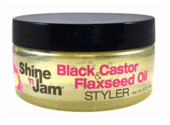 AMPRO® SHINE N JAM BLACK CASTOR & FLAXSEED OIL STYLER 8 OZ