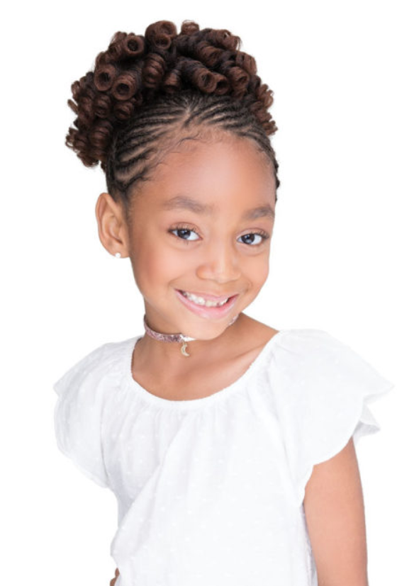 JANET COLLECTION® - LOVELY KID WAND CURL DRAWSTRING PONY TAIL