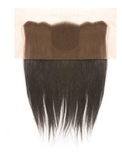 "Load image into Gallery viewer, JANET COLLECTION - NATURAL BROWN STRAIGHT 10"" 13X4 CLOSURE LACE"