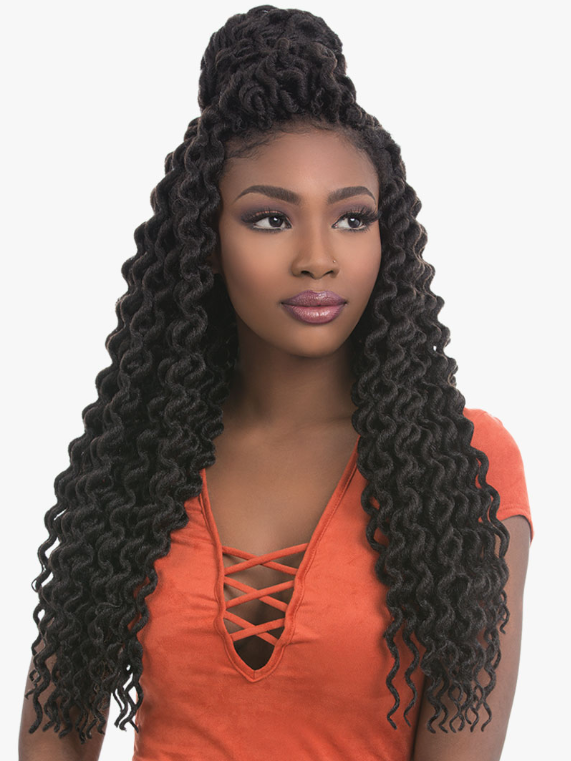 SENSATIONNEL® - X-PRESSION® - 3X FAUX LOCS CURLY 18″
