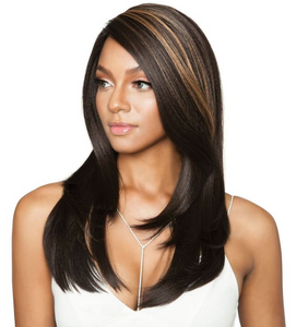 "MELANIN QUEEN® - MLE01-EAR TO EAR BOB STRAIGHT 22"" WIG"