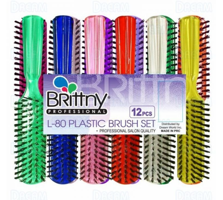 BRITTNY BRUSH PLASTIC L-80 - SINGLE